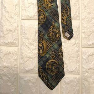 Long champ silk tie